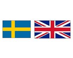 Швеция – Англия. Футбол. фото