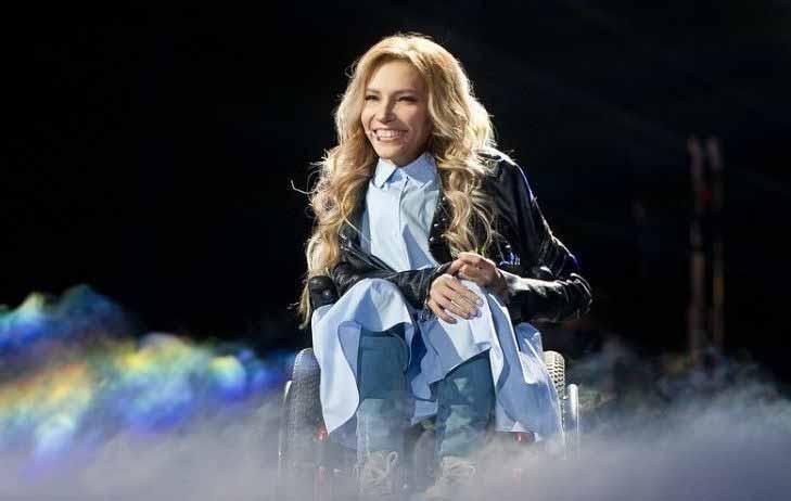 Певица Юлия Самойлова, представитель России на конкурсе Евровидение 2017