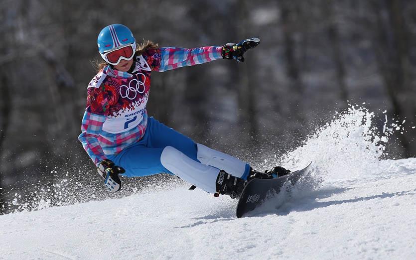 Алена Заварзина сноуборд Сочи