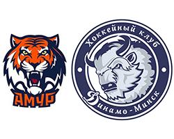 Хоккей. КХЛ. Амур - Динамо Минск